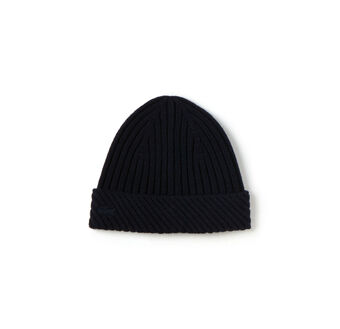 Men's Irregular Rib Wool Beanie