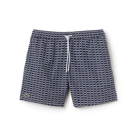 Men's Net Print Swimming Trunks