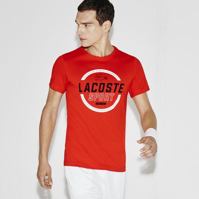 Men's SPORT Technical Jersey Circular Graphic Tennis T-Shirt