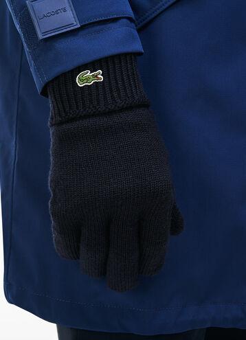 Men's Green Croc Wool Gloves