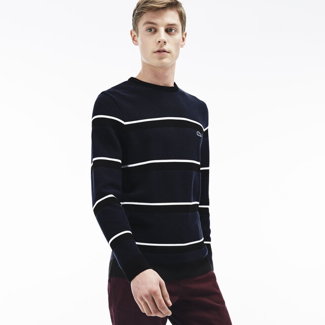 "Men's ""Made in France"" Piqué Stitch Crewneck Sweater"