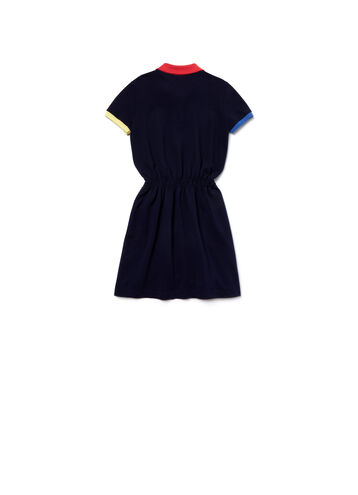Girl's Mini Piqué With Elasticized Waistband Polo Dress