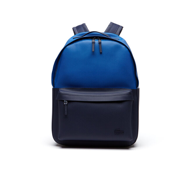 Men's Chantaco Colorblock Piqué Coated Leather Backpack