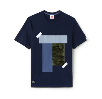 Men's L!VE Crew Neck Colorblock Print T-shirt