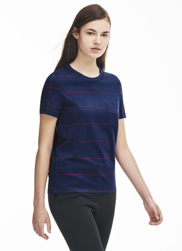 Women's Windowpane Print T-Shirt
