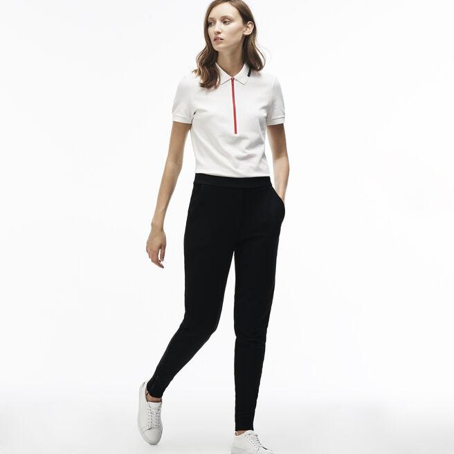 Women's Fleece Zippered Leg Bottom Jogging Pants