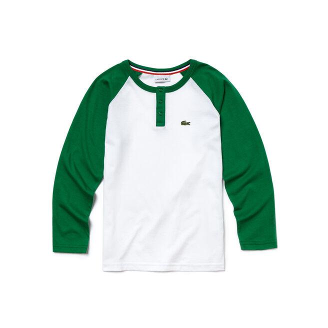 Boy's Baseball Cotton Colorblock T-Shirt