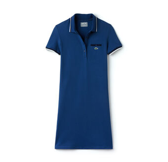 Women's SPORT Stretch Petit Piqué Polo Dress