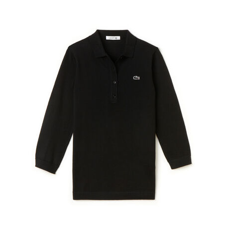 Women's Wool Jersey Sweater Polo