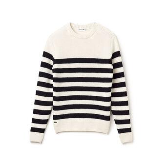 Rib Stripe Button Sweater