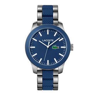 Unisex Lacoste.12.12 Mixed Material Blue Watch