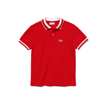 Boy's Candy Stripe Croc Polo Shirt