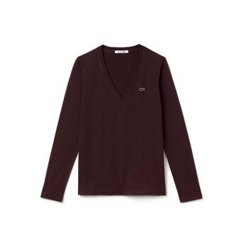 Women's Cotton Jersey V-Neck T-Shirt