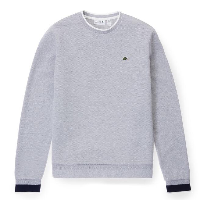 Men's Piqué Crew Sweatshirt