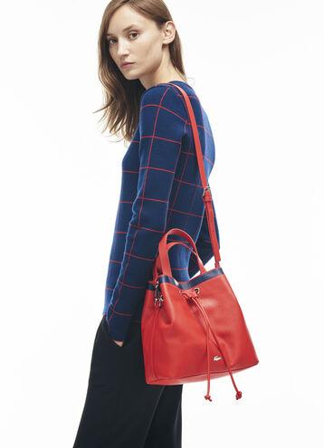 Women's Break Point Colorblock Leather Bucket Bag