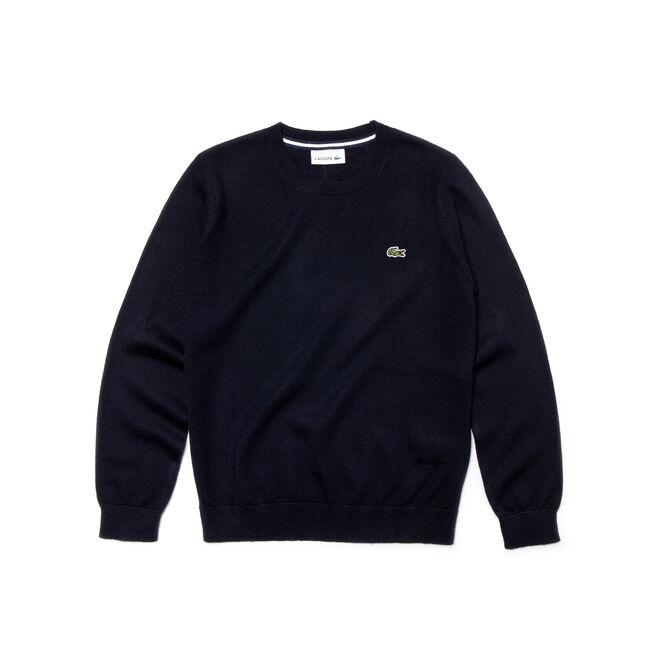 Kids' Crew Neck Wool Blend Sweater