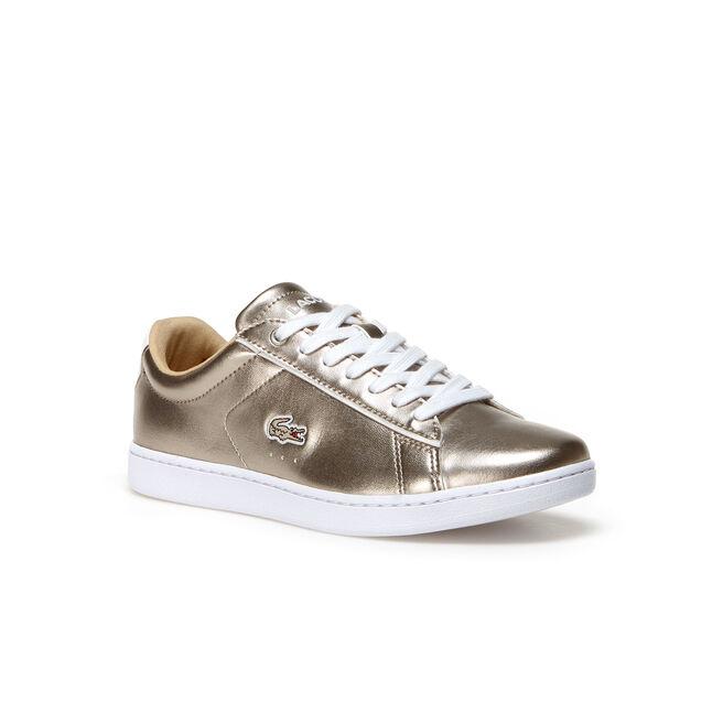 Women's Carnaby Evo Low-Rise Metallic Leather Sneakers