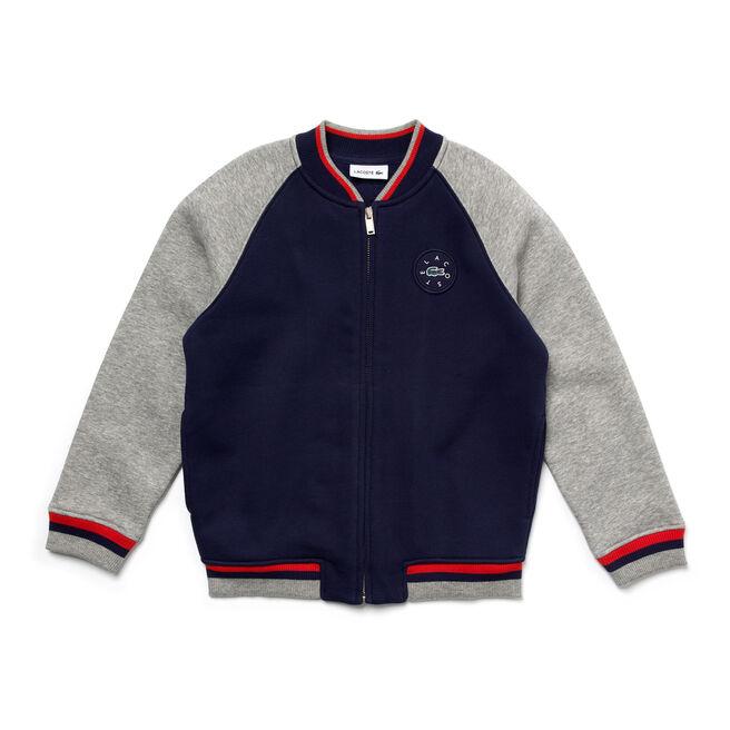 Kid's Polka Dot Fleece Teddy Sweatshirt