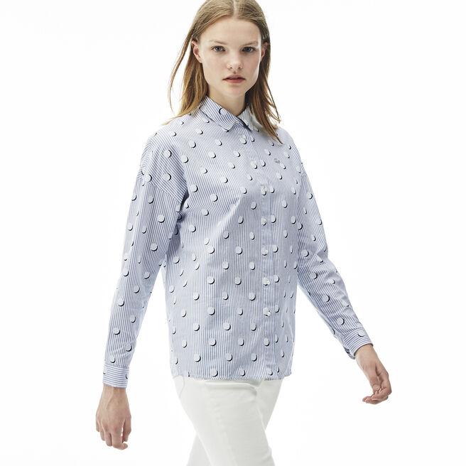 Women's L!VE Stripes And Polka Dots Shirt