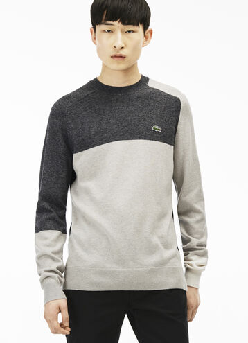 Men's L!VE Color Block Crewneck Sweater