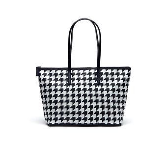 Women's L.12.12 Concept Houndstooth Horizontal Zip Tote Bag