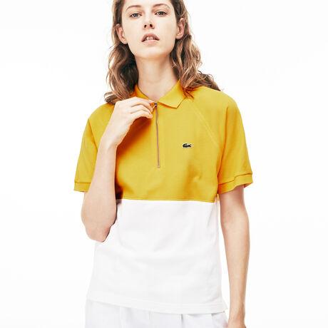 라코스테 손연재 착용 피케 티셔츠 슬림핏 - 옐로우 Lacoste Womens Slim Fit Petit Pique Polo, solstice yellow/flour, PF3082-51