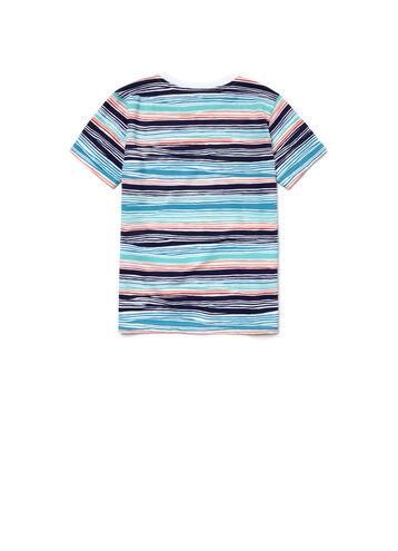 Boy's Crew Neck Flamme Jersey Nautical T-Shirt