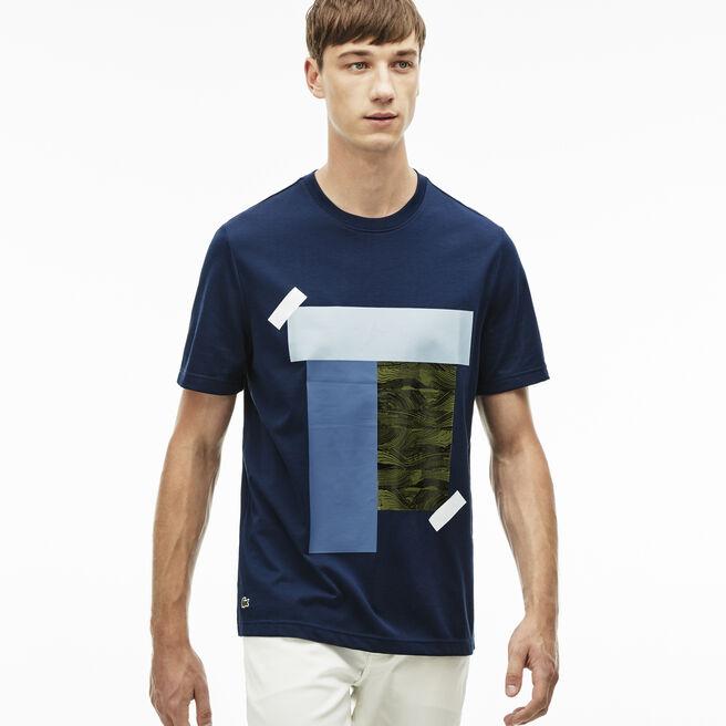 Men's L!VE Crew Neck Colorblock Print T-shirt