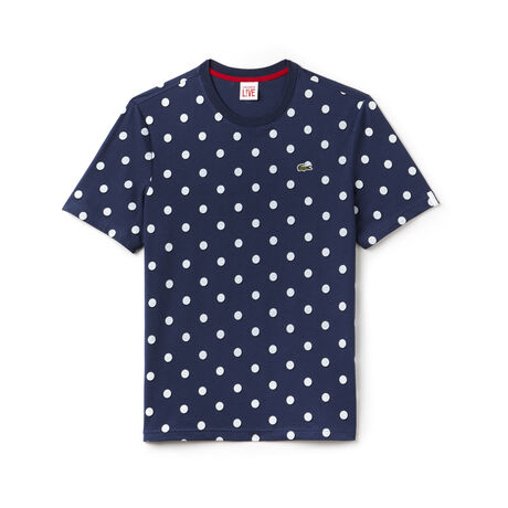 Men's L!VE Crew Neck Polka Dot Jersey T-shirt