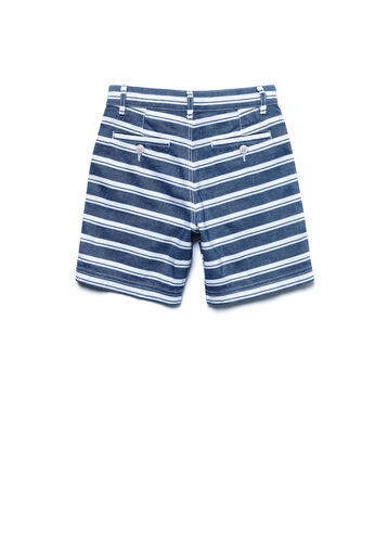 Kids' Chambray Striped Bermuda Shorts