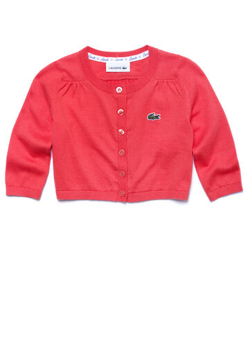 Kids' Jersey Crew Neck Cardigan