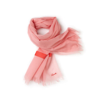 Women's Cotton Scarf with Stripes