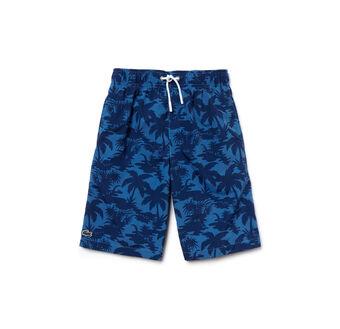 Boy's Palm Tree Swim Shorts