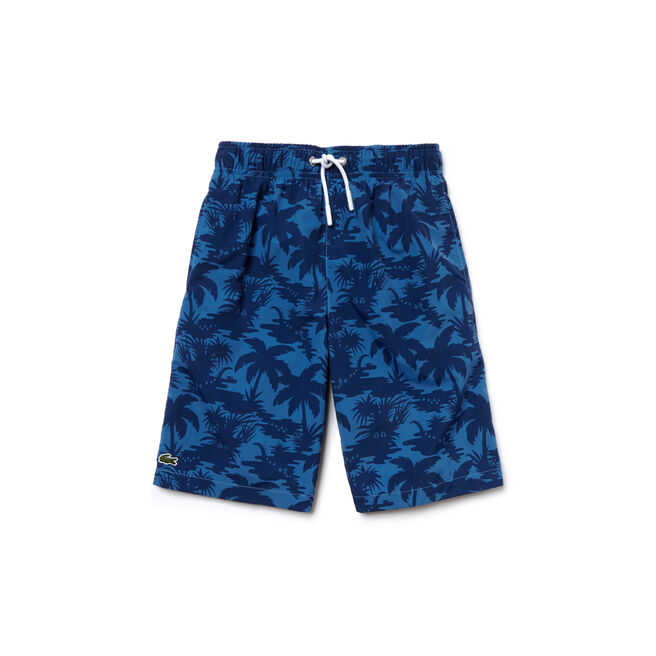 Boy's Palm Tree Swim Shorts