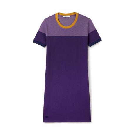 Women's Color Block Piqué  T-Shirt Dress