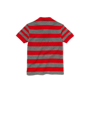Kids' Color Block Mixed Stripes Cotton Piqué Polo Shirt