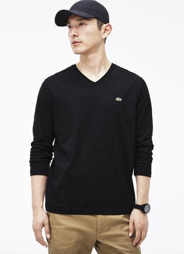 Men's Pima Cotton V-Neck T-Shirt