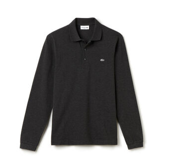 Men's Slim Fit Long Sleeve Piqué Polo Shirt