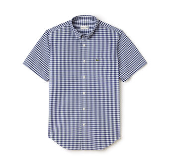 Men's Gingham Check Poplin Shirt