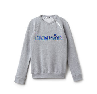 Women's Flecked Fleece Fair Play Embroidery Crew Neck Sweatshirt