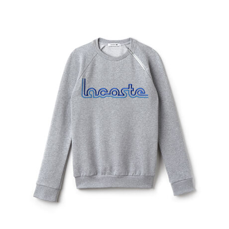 Women's Flecked Fleece Fair Play Embroidery Crew Neck Sweatshirt