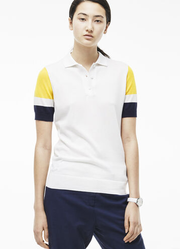 Women's Sheer Color Block Sweater