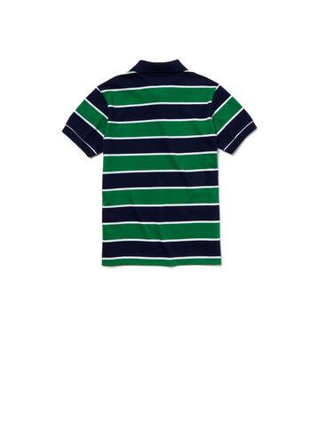 Boy's Lacoste Striped Jersey Polo