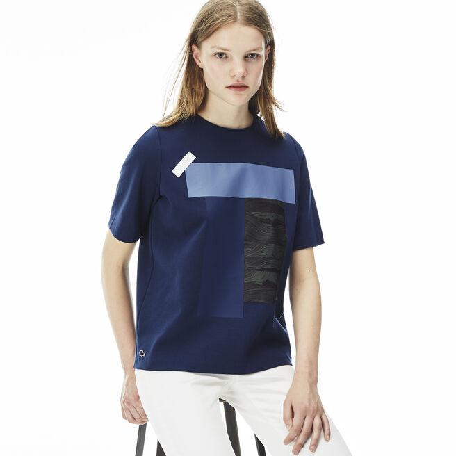 Women's L!VE Crew Neck Colorblock Print T-shirt
