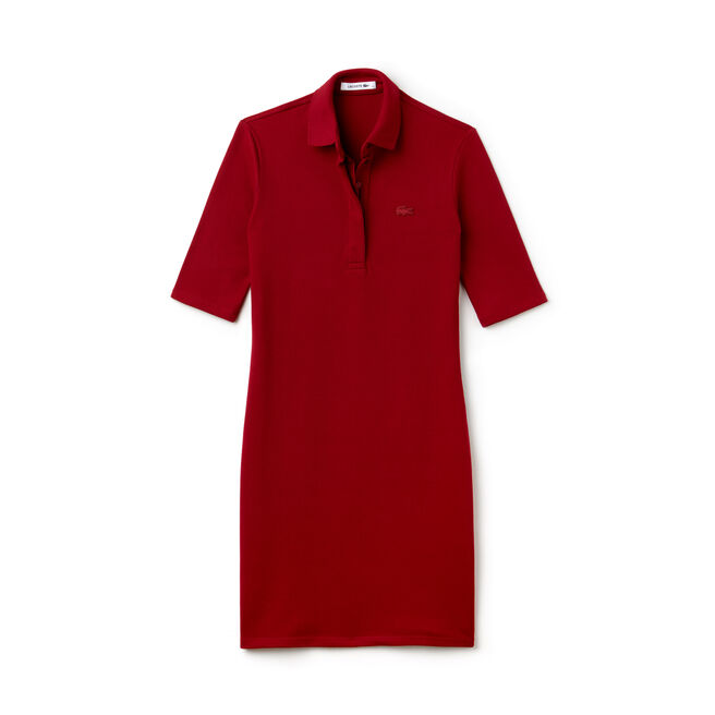 Women's Half Sleeve Stretch Piqué Polo Dress