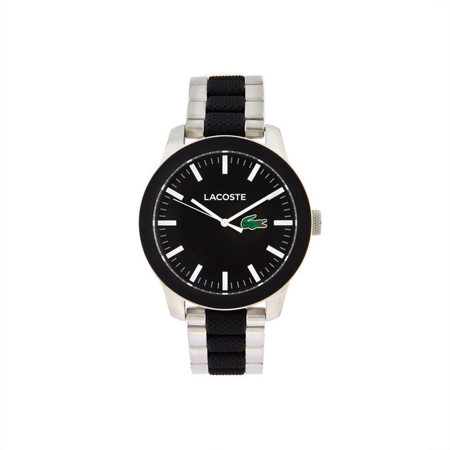 Unisex Lacoste.12.12 Mixed Material Black Watch