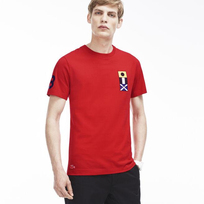 Men's Nautical Flag Detail T-Shirt