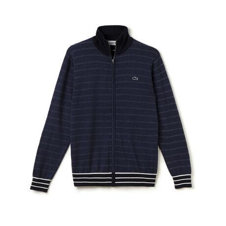 Men's Stripe Zip Cardigan