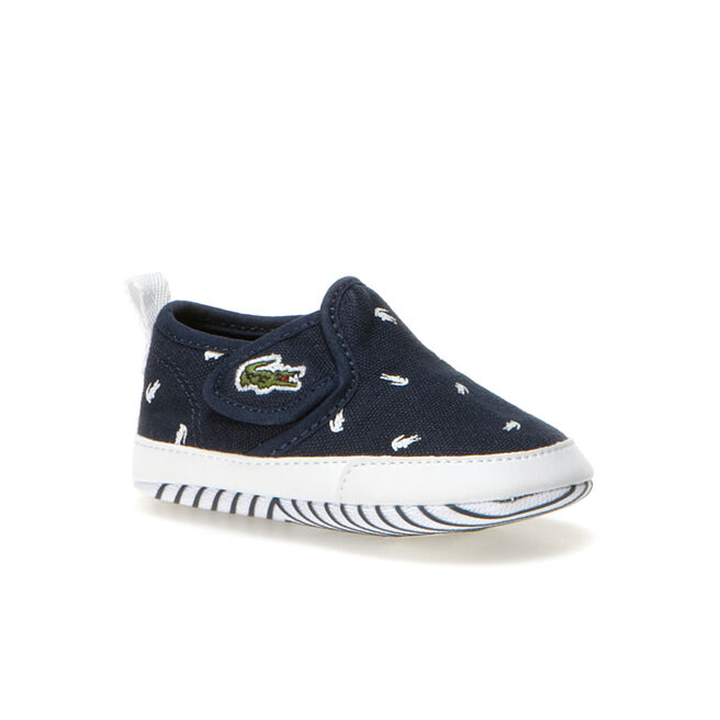 Newborn Gazon Crocodile Print Canvas Shoes