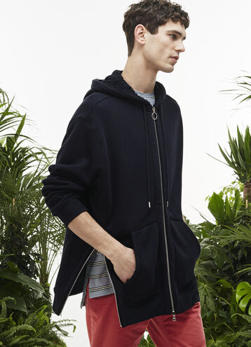 Men's Fashion Show Fleece Reversible Hooded Zippered Sweatshirt